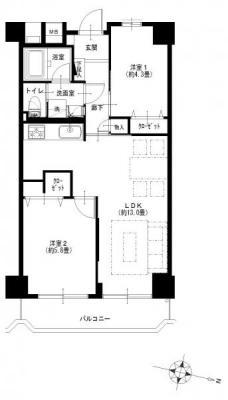 赤羽グリーンハイツ407号室